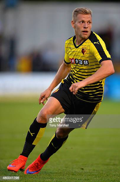 Matej Vydra of Watford during the Pre Season Friendly match between St Albans City and Watford at Clarence Park on July 8 2015 in St Albans England