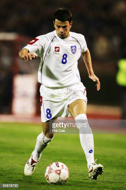 Mateja Kezman of Serbia Montenegro in action during the the World Cup Qualifier Group Seven match between Serbia Montenegro and Spain at the FK Crena...