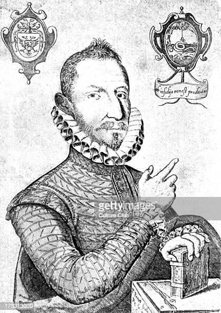 Mateo Alemán y de Enero from engraving of the period by an unknown master Spanish novelist and writer 1547 – 1615