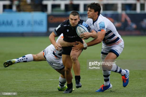 Mateo Carreras of Newcastle Falcons in action during the Gallagher Premiership match between Newcastle Falcons and Bristol at Kingston Park,...