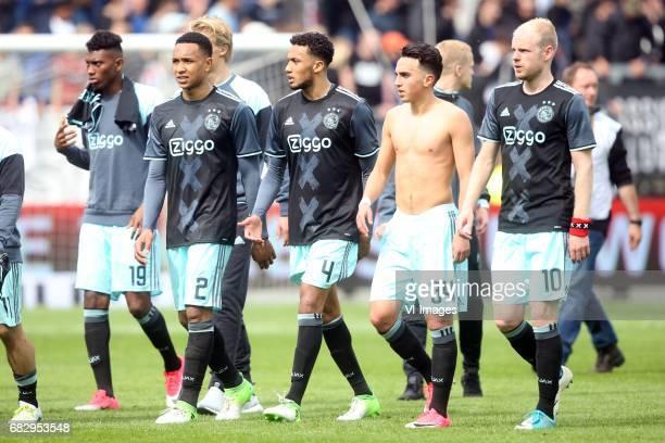 Mateo Cassierra of Ajax Kenny Tete of Ajax Jairo Riedewald of Ajax Abdelhak Nouri of Ajax Davy Klaassen of Ajaxduring the Dutch Eredivisie match...