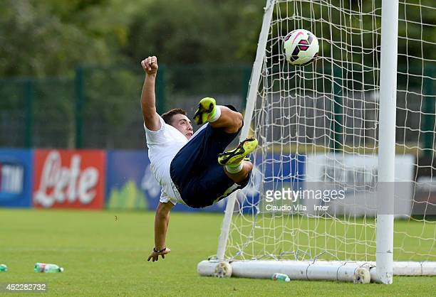 Mateo Kovacic in action during FC Internazionale Milano training session on July 17 2014 in Pinzolo near Trento Italy