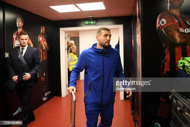 Mateo Kovacic of Chelsea arrives at the stadium prior to the Premier League match between AFC Bournemouth and Chelsea FC at Vitality Stadium on...