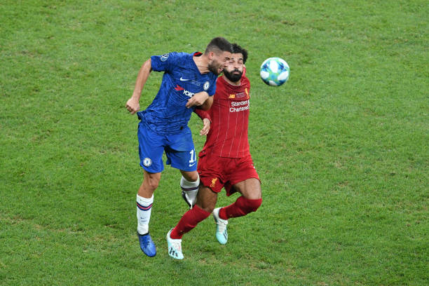 SUPER COUPE EUROPE UEFA 2019 Mateo-kovacic-of-chelsea-challenges-for-the-ball-with-mohamed-salah-picture-id1168044432?k=6&m=1168044432&s=612x612&w=0&h=DVG92yantgMYa-50I0Z3MuG2Vp1ebakR0Dt_IxjBlNY=