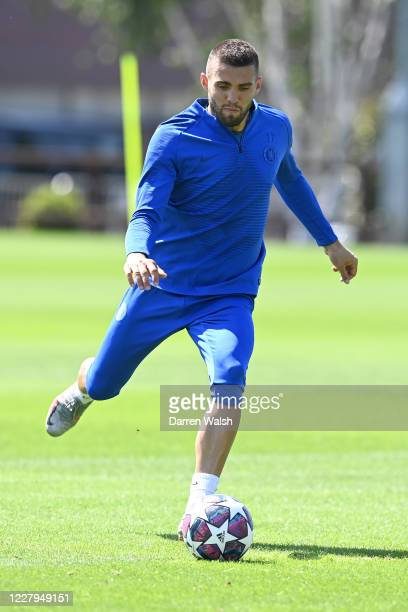 Mateo Kovacic of Chelsea during a training session at Chelsea Training Ground on August 7 2020 in Cobham England