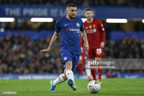Mateo Kovacic of Chelsea during the FA Cup Fifth Round match between Chelsea and Liverpool at Stamford Bridge on March 3 2020 in London England