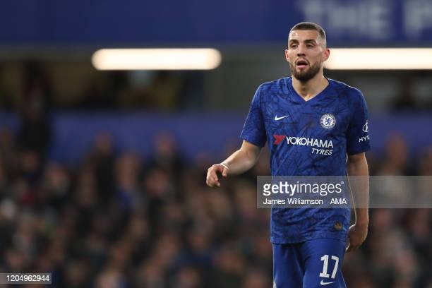 Mateo Kovacic of Chelsea during the FA Cup Fifth Round match between Chelsea FC and Liverpool FC at Stamford Bridge on March 3 2020 in London England