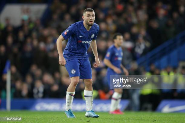 Mateo Kovacic of Chelsea during the FA Cup Fifth Round match between Chelsea FC and Liverpool FC at Stamford Bridge on March 03 2020 in London England