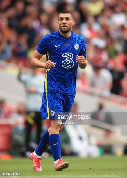 Mateo Kovacic of Chelsea during the Pre Season Friendly between Arsenal and Chelsea at Emirates Stadium on August 1, 2021 in London, England.