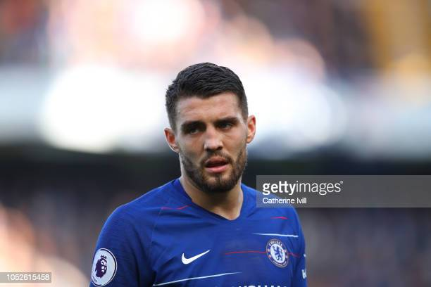 Mateo Kovacic of Chelsea during the Premier League match between Chelsea FC and Manchester United at Stamford Bridge on October 20 2018 in London...