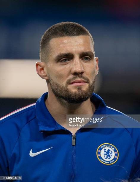 Mateo Kovacic of Chelsea during the UEFA Champions League round of 16 first leg match between Chelsea FC and FC Bayern Muenchen at Stamford Bridge on...