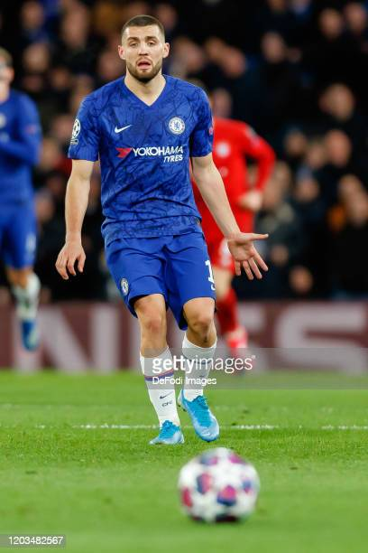 Mateo Kovacic of Chelsea FC looks on during the UEFA Champions League round of 16 first leg match between Chelsea FC and FC Bayern Muenchen at...