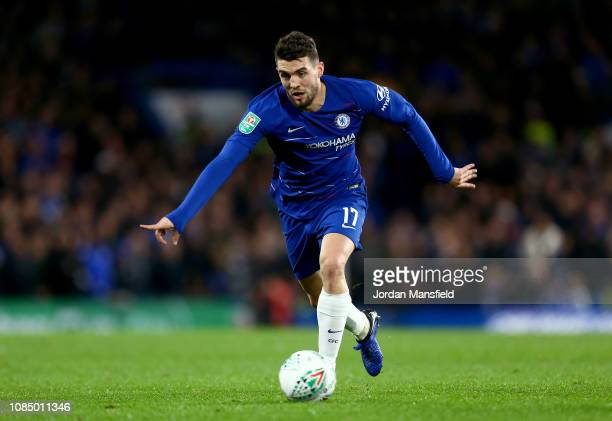 Mateo Kovacic of Chelsea in action during the Carabao Cup Quarter Final match between Chelsea and AFC Bournemouth at Stamford Bridge on December 19...