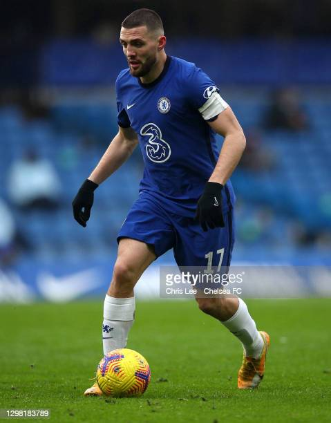 Mateo Kovacic of Chelsea in action during The Emirates FA Cup Fourth Round match between Chelsea and Luton Town at Stamford Bridge on January 24,...