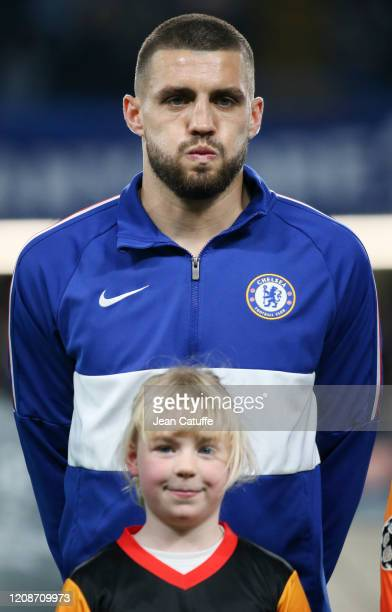 Mateo Kovacic of Chelsea poses before the UEFA Champions League round of 16 first leg match between Chelsea FC and FC Bayern Muenchen at Stamford...