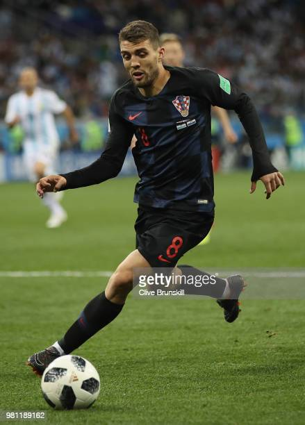 Mateo Kovacic of Croatia during the 2018 FIFA World Cup Russia group D match between Argentina and Croatia at Nizhniy Novgorod Stadium on June 21...
