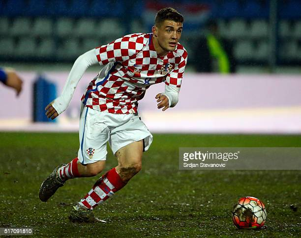 Mateo Kovacic of Croatia in action during the International Friendly match between Croatia and Israel at stadium Gradski Vrt on March 23 2016 in...