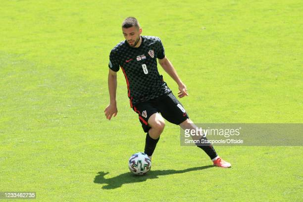 Mateo Kovacic of Croatia in action during the UEFA Euro 2020 Championship Group D match between England and Croatia at Wembley Stadium on June 13,...