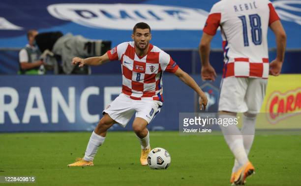 Mateo Kovacic of Croatia in action during the UEFA Nations League group stage match between France and Croatia at Stade de France on September 8 2020...