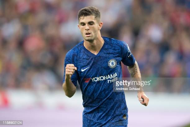 Mateo Kovacic of FC Chelsea celebrates after scoring on his first goal during the preseason friendly match between RB Salzburg and FC Chelsea at Red...