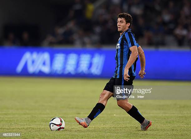Mateo Kovacic of FC Internazionale in action during the International Champions Cup match between AC Milan and FC Internazionale on July 25 2015 in...