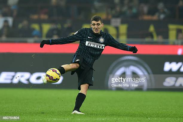 Mateo Kovacic of FC Internazionale scores the first goal during the Serie A match betweeen FC Internazionale Milano and SS Lazio at Stadio Giuseppe...