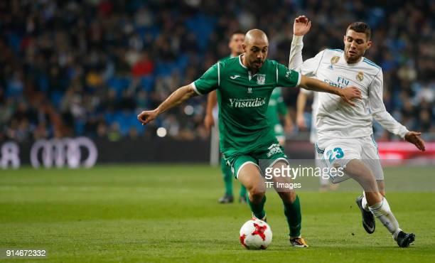 Mateo Kovacic of Real Madrid and Amrabat of Leganes battle for the ball during the Copa del Rey quarter final match between Real Madrid and Leganes...
