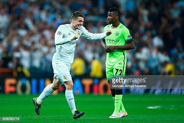 Mateo Kovacic of Real Madrid celebrates during the UEFA Champions League semi final second leg match between Real Madrid and Manchester City FC at...
