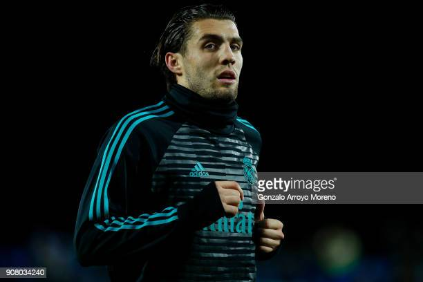 Mateo Kovacic of Real Madrid CF in action during his warmingup session before the Copa del Rey quarter final first leg match between Real Madrid CF...