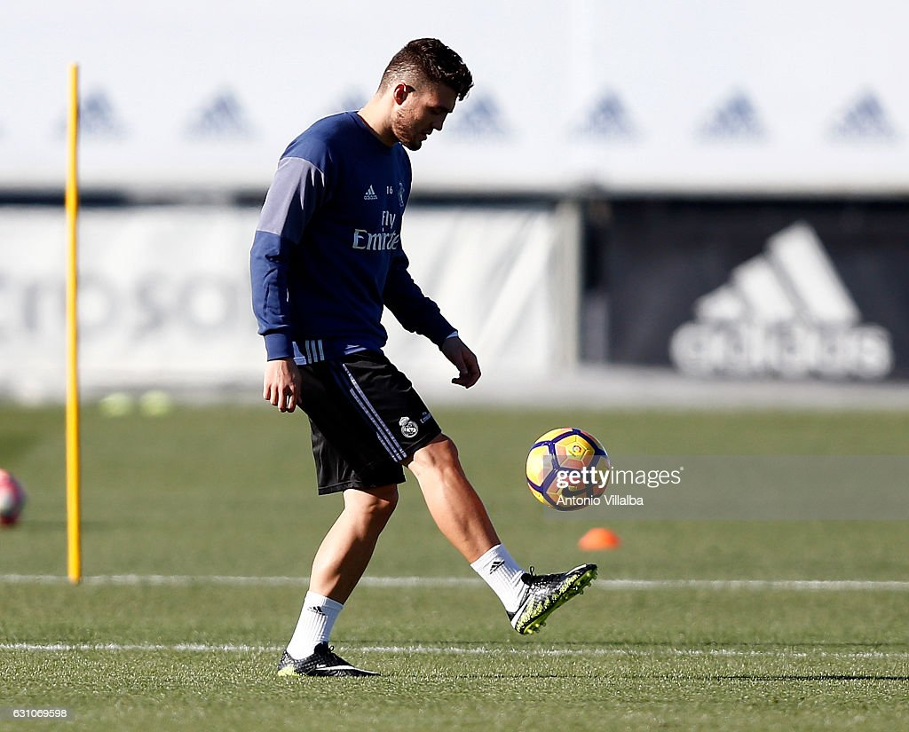 Mateo Kovacic of Real Madrid during a training session at Valdebebas training ground on January 6, 2017 in Madrid, Spain.