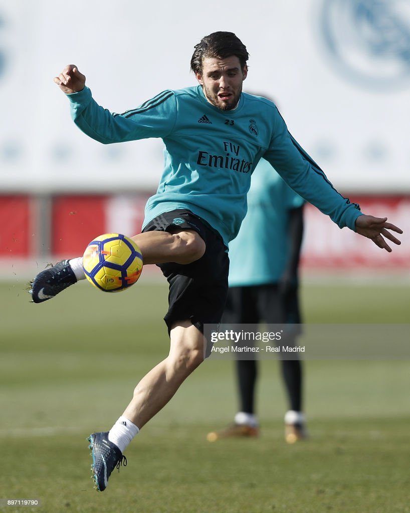 Mateo Kovacic of Real Madrid in action during a training session at Valdebebas training ground on December 22, 2017 in Madrid, Spain.