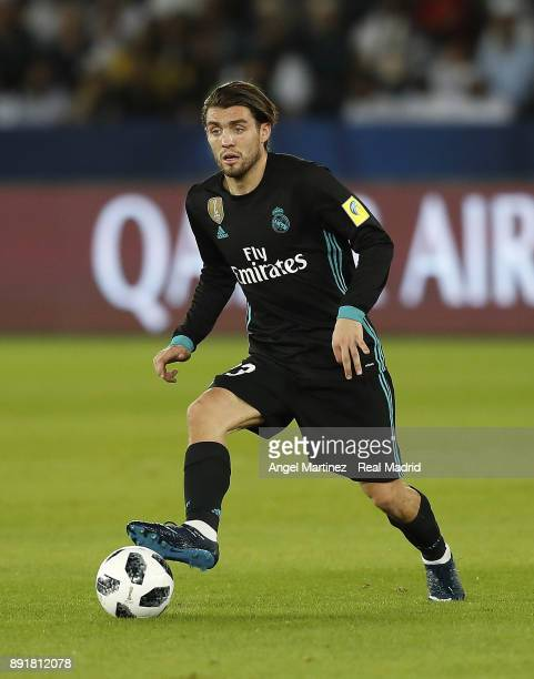 Mateo Kovacic of Real Madrid in action during the FIFA Club World Cup UAE 2017 semifinal match between Al Jazira and Real Madrid at Zayed Sports City...