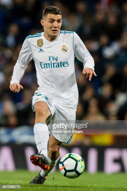 Mateo Kovacic of Real Madrid in action during the La Liga 201718 match between Real Madrid and Girona FC at Estadio Santiago Bernabéu on March 18...