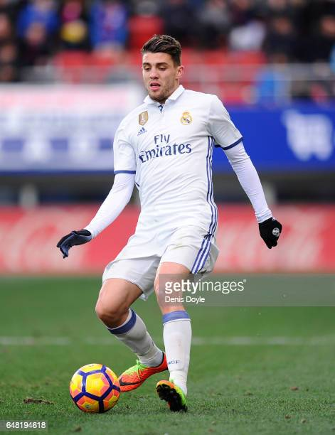 Mateo Kovacic of Real Madrid in action during the La Liga match between SD Eibar and Real Madrid CF at Estadio Municipal de Ipurua on March 4 2017 in...