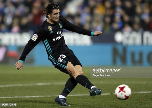 Mateo Kovacic of Real Madrid in action during the Spanish Copa del Rey Quarter Final First Leg match between Leganes and Real Madrid at Estadio...