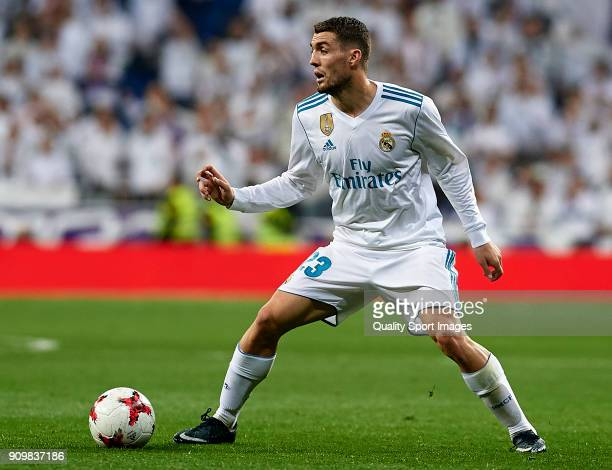 Mateo Kovacic of Real Madrid in action during the Spanish Copa del Rey Quarter Final Second Leg match between Real Madrid and Leganes at Bernabeu on...