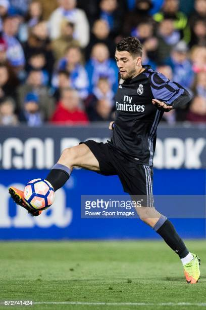 Mateo Kovacic of Real Madrid in action during their La Liga match between Deportivo Leganes and Real Madrid at the Estadio Municipal Butarque on 05...