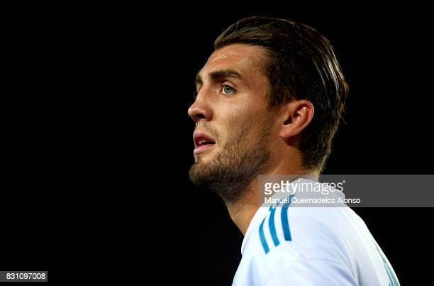 Mateo Kovacic of Real Madrid looks on during a warm up prior to the Supercopa de Espana Supercopa Final 1st Leg match between FC Barcelona and Real...