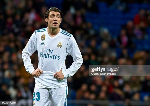 Mateo Kovacic of Real Madrid looks on during the Copa del Rey Round of 16 second Leg match between Real Madrid and Numancia at Bernabeu on January 10...
