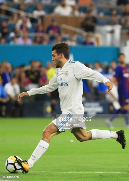 Mateo Kovacic of Real Madrid scores a goal in the first half against the Barcelona during their International Champions Cup 2017 match at Hard Rock...