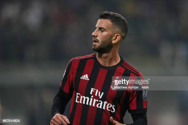 Mateo Musacchio of AC Milan during the Serie A match between FC Internazionale and AC Milan at Stadio Giuseppe Meazza on October 15 2017 in Milan...