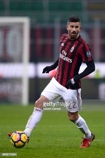 Mateo Musacchio of AC Milan in action during the Serie A football match between AC Milan and Bologna FC AC Milan won 21 over Bologna FC