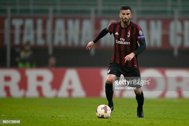 Mateo Musacchio of AC Milan in action during the UEFA Europa League football match between AC Milan and AEK Athens The match ended in a 00 draw