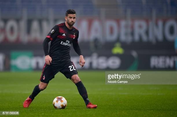 Mateo Musacchio of AC Milan in action during the UEFA Europa League football match between AC Milan and FK Austria Wien AC Milan wins 51 over FK...