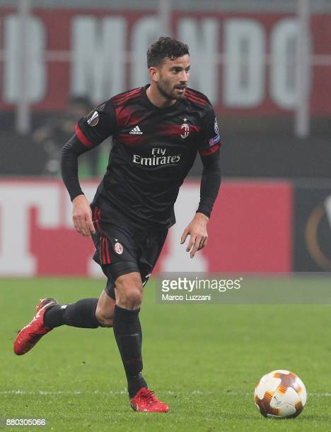 Mateo Musacchio of AC Milan in action during the UEFA Europa League group D match between AC Milan and Austria Wien at Stadio Giuseppe Meazza on...