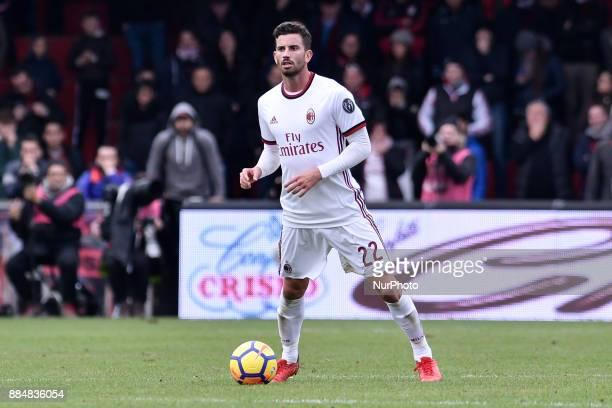 Mateo Musacchio of Milan during the Serie A match between Benevento and Milan at Ciro Vigorito Stadium Benevento Italy on 3 December 2017