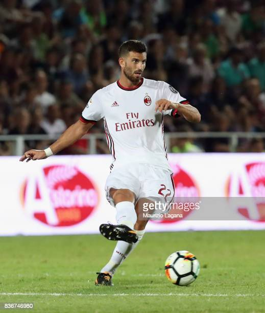 Mateo Musacchio of Milan during the Serie A match between FC Crotone and AC Milan on August 20 2017 in Crotone Italy