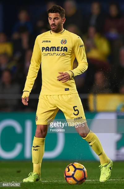 Mateo Musacchio of Villarreal in action during the La Liga match between Villarreal CF and Real Madrid at Estadio de la Ceramica on February 26 2017...