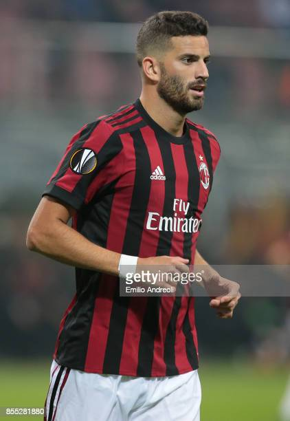 Mateo Pablo Musacchio of AC Milan looks on during the UEFA Europa League group D match between AC Milan and HNK Rijeka at Stadio Giuseppe Meazza on...
