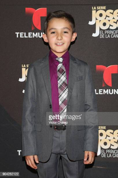 Mateo Ramirez attends the 'Jose Jose El Principe De La Cancion' Telemundo tv series premiere at Four Seasons hotel on January 11 2018 in Mexico City...
